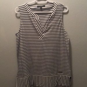 Navy sleeveless striped top. Great condition.